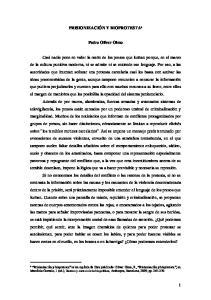 PRISIONIZACIÓN Y BIOPROTESTA. Pedro Oliver Olmo