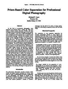 Prism-Based Color Separation for Professional Digital Photography