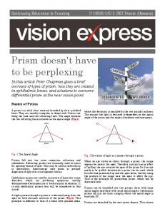 Prism doesn't have to be perplexing
