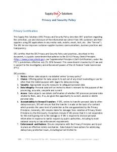 Privacy and Security Policy