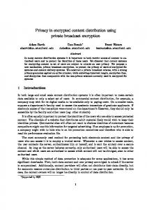 Privacy in encrypted content distribution using private broadcast encryption