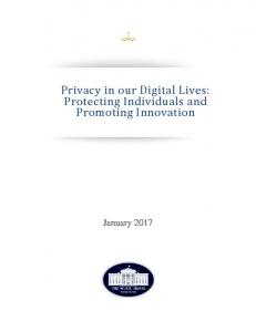 Privacy in our Digital Lives: