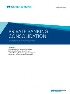 PRIVATE BANKING CONSOLIDATION