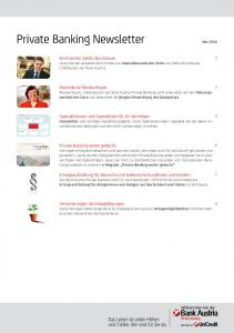 Private Banking Newsletter