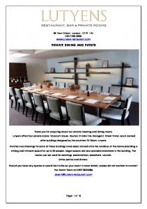PRIVATE DINING AND EVENTS