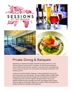 Private Dining & Banquets