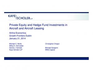 Private Equity and Hedge Fund Investments in Aircraft and Aircraft Leasing