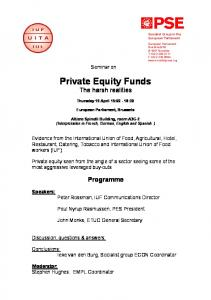Private Equity Funds The harsh realities