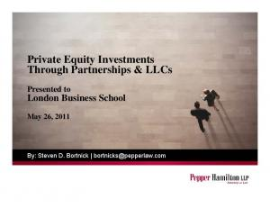 Private Equity Investments Through Partnerships & LLCs