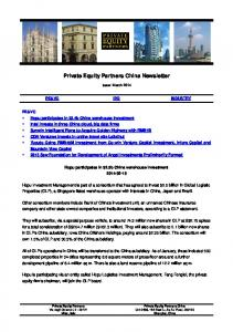 Private Equity Partners China Newsletter