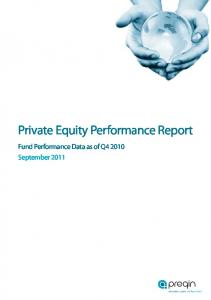 Private Equity Performance Report