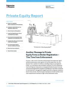Private Equity Report