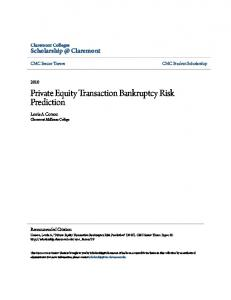 Private Equity Transaction Bankruptcy Risk Prediction