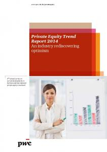 Private Equity Trend Report 2014 An industry rediscovering optimism