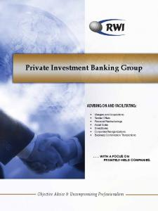 Private Investment Banking Group