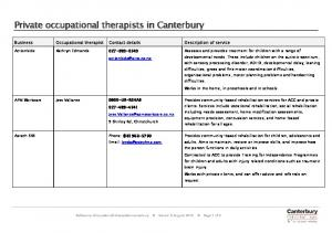 Private occupational therapists in Canterbury