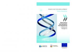 PRIVATE SECTOR DEVELOPMENT Policy Handbook
