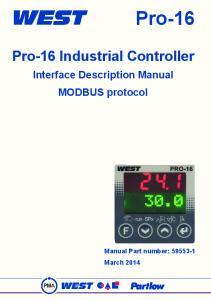 Pro-16. Pro-16 Industrial Controller. Interface Description Manual MODBUS protocol