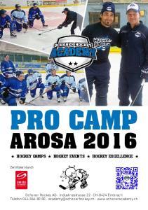 PRO CAMP AROSA 2016 HOCKEY CAMPS HOCKEY EVENTS HOCKEY EXCELLENCE