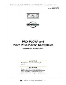 PRO-PLOW and POLY PRO-PLOW Snowplows