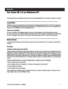 Pro Tools HD 7.0 on Windows XP