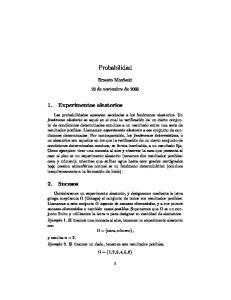 Probabilidad. Ernesto Mordecki. 23 de noviembre de 2005