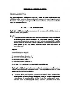 PROBABILIDAD Y PRINCIPIO DE CONTEO