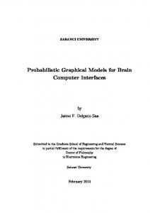 Probabilistic Graphical Models for Brain Computer Interfaces
