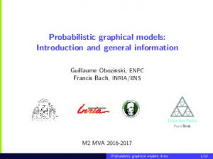 Probabilistic graphical models: Introduction and general information