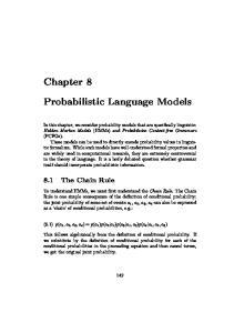 Probabilistic Language Models