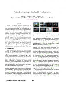 Probabilistic Learning of Task-Specific Visual Attention