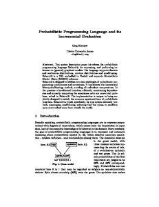 Probabilistic Programming Language and its Incremental Evaluation