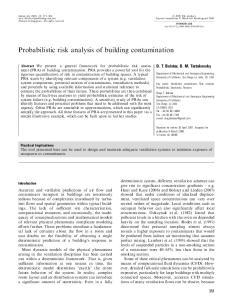 Probabilistic risk analysis of building contamination