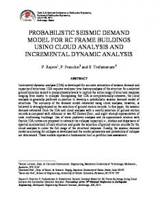 PROBABILISTIC SEISMIC DEMAND MODEL FOR RC FRAME BUILDINGS USING CLOUD ANALYSIS AND INCREMENTAL DYNAMIC ANALYSIS