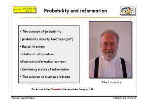 Probability and information. Probability and information