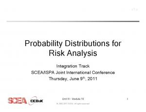 Probability Distributions for Risk Analysis