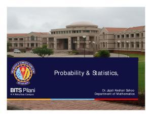Probability & Statistics,