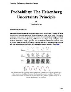 Probability: The Heisenberg Uncertainty Principle