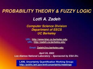 PROBABILITY THEORY & FUZZY LOGIC