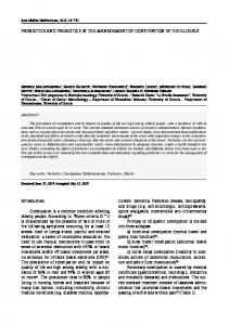 PROBIOTICS AND PREBIOTICS IN THE MANAGEMENT OF CONSTIPATION IN THE ELDERLY