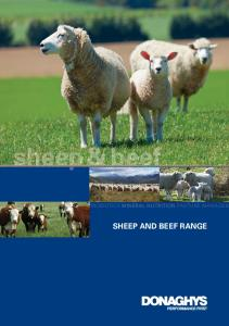PROBIOTICS MINERAL NUTRITION PASTURE MANAGEM SHEEP AND BEEF RANGE