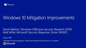 Problem: Assume breach mitigation strategy augments preventative security. Preventative Security