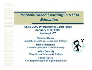 Problem-Based Learning in STEM Education