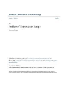 Problem of Illegitimacy in Europe