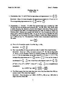Problem Set 10 Due: Never