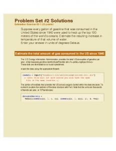 Problem Set #2 Solutions