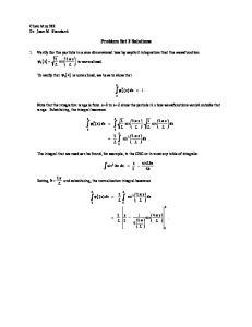 Problem Set 3 Solutions