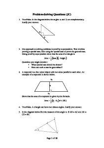 Problem-Solving Questions (JC)