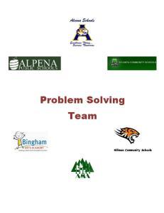 Problem Solving Team. Hillman Community Schools