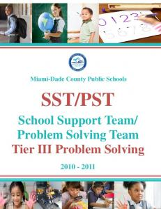 Problem Solving Team Tier III Problem Solving